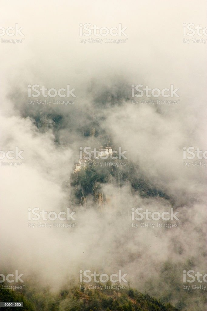 Bhutan: Tigers Nest Monastery in the Clouds stock photo