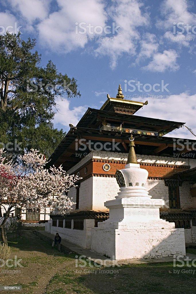 Bhutan - Traditional Family Home in Thimpu royalty-free stock photo