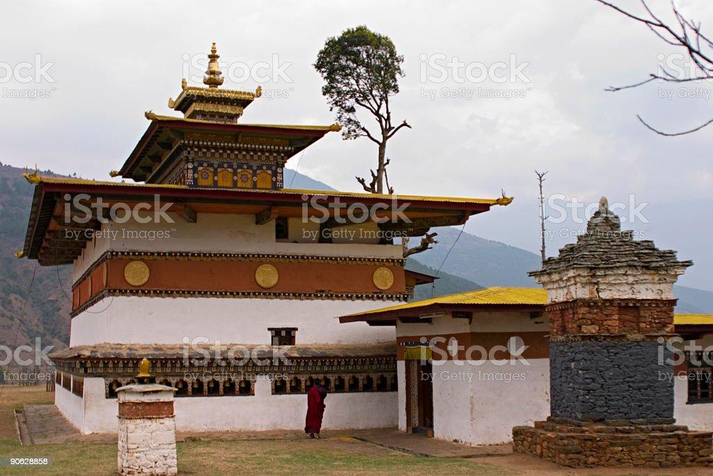 Bhutan - Traditional Monastery Architecture stock photo