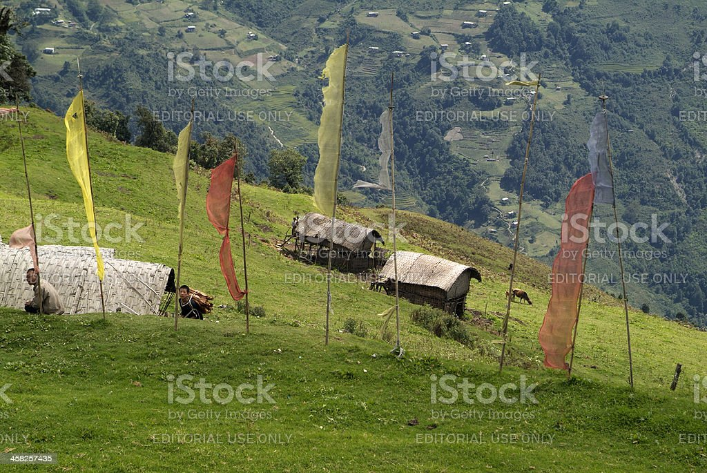 Bhutan, Trashigang royalty-free stock photo