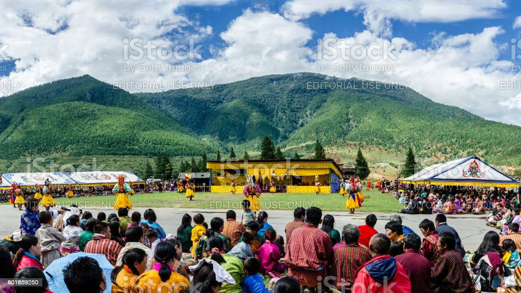 Bhutan, Wangdue Festival stock photo