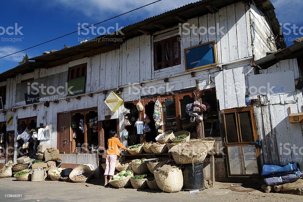 Bhutanese Bazaar royalty-free stock photo