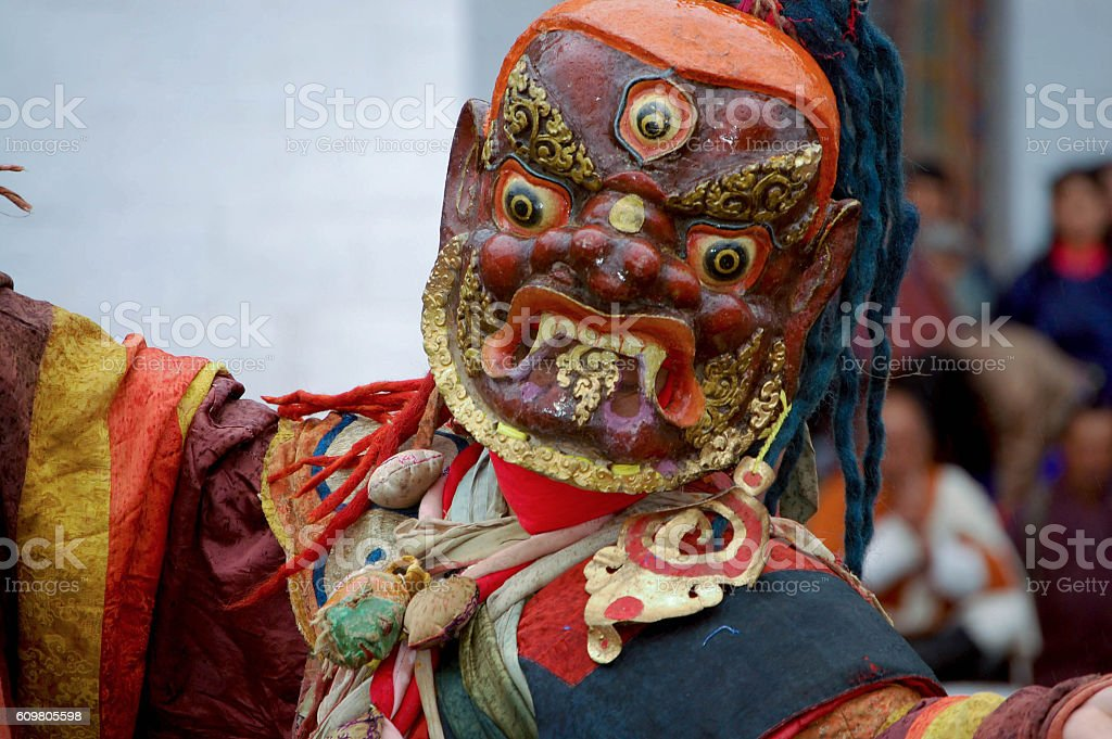 Bhutanese Festival Dancer stock photo
