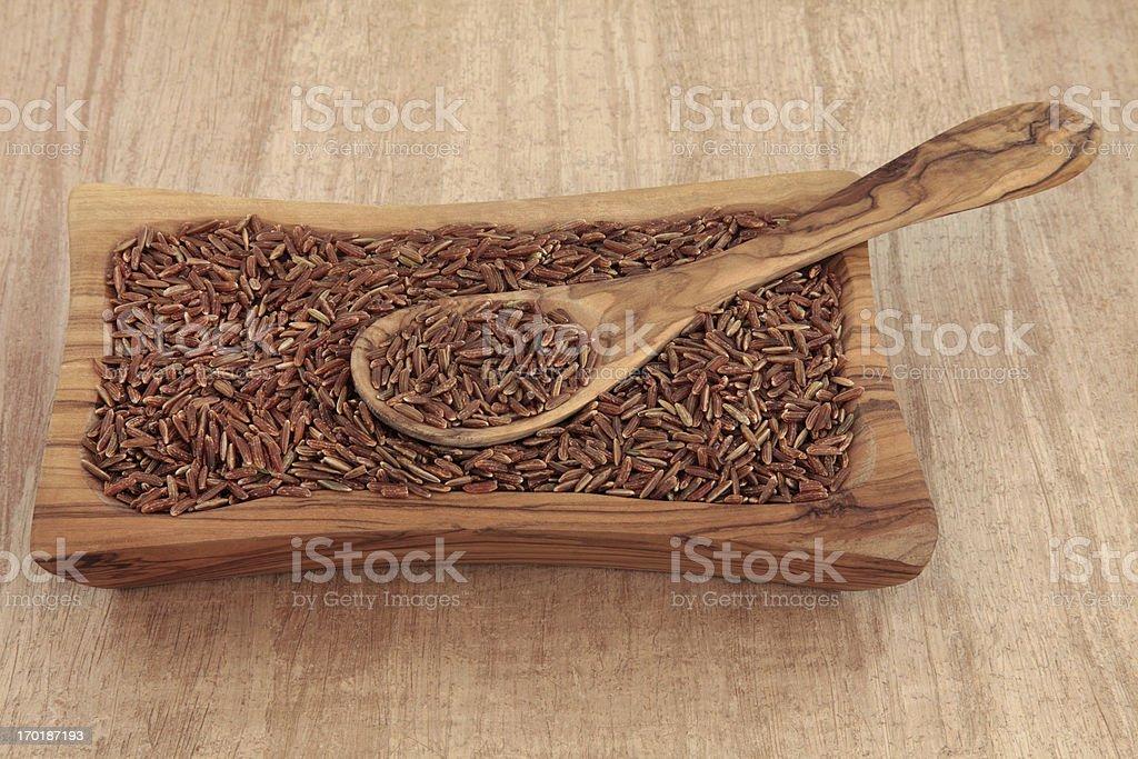 Bhutanese Red Rice royalty-free stock photo