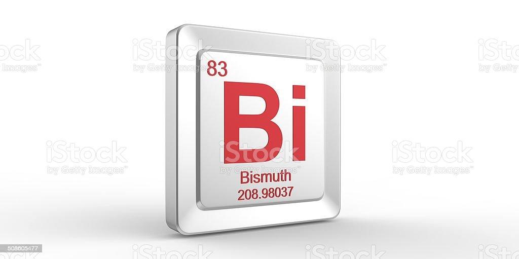 Bi symbol 83 material for Bismuth chemical element stock photo