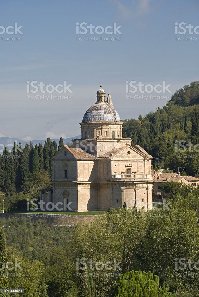 San Biagio in Montepulciano stock photo
