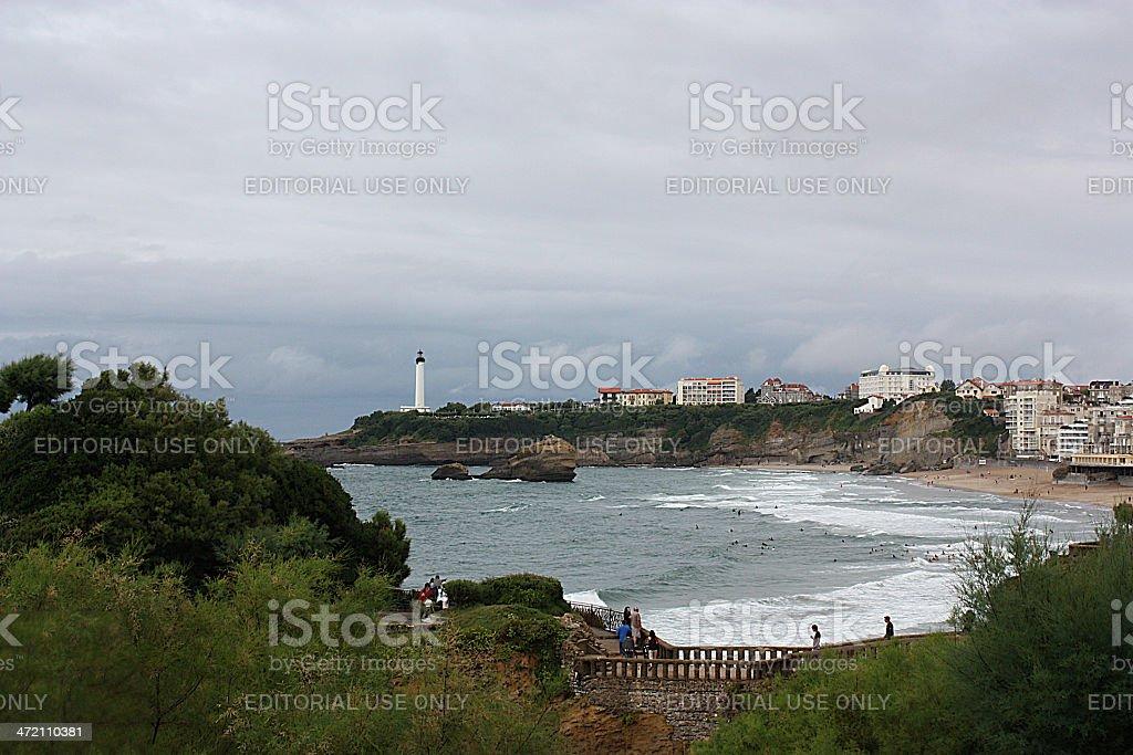 Biarritz, Aquitaine, panorama, Coast, seascape stock photo