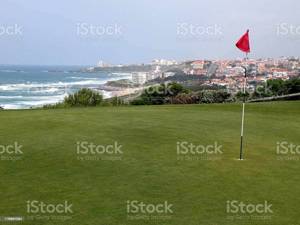 golf de Biarritz stock photo