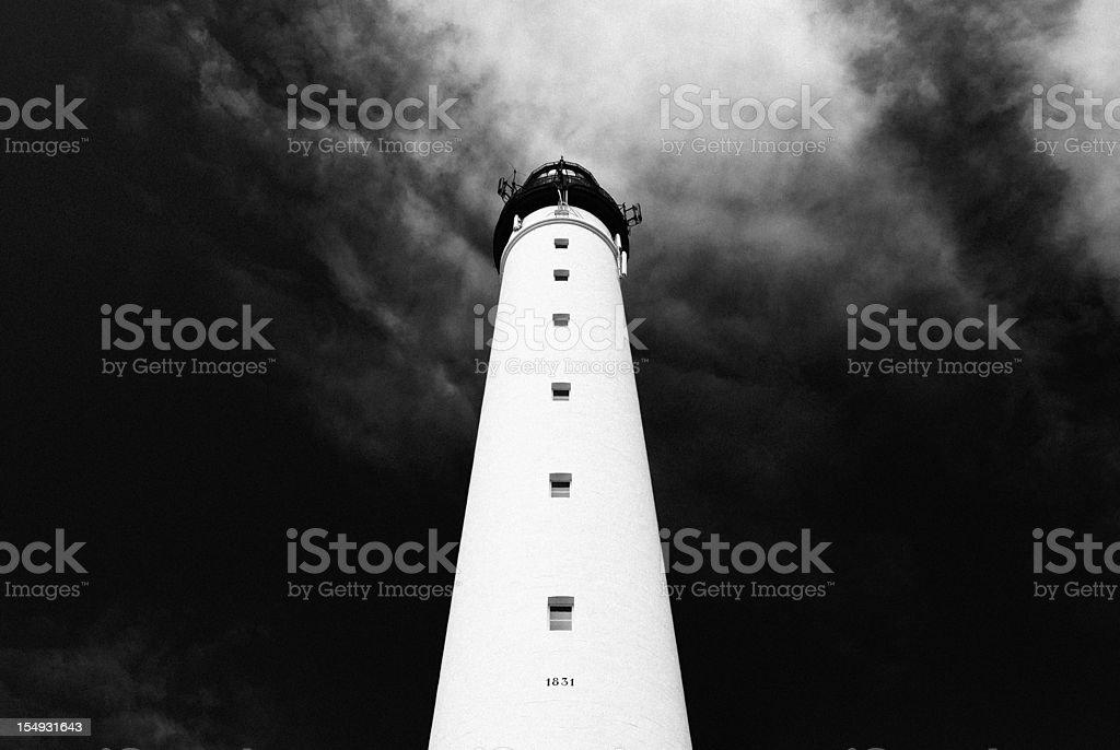 Biarritz lighthouse: Phare de St.-Martin stock photo