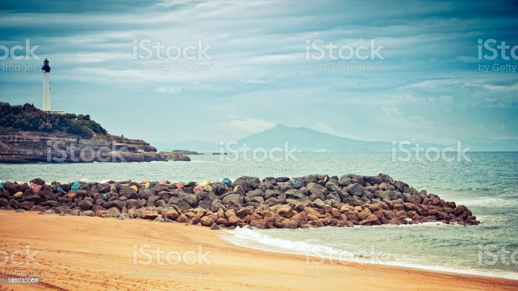 Biarritz lighthouse. royalty-free stock photo