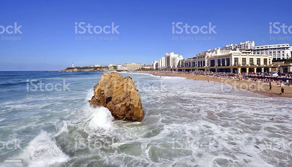 Biarritz stock photo
