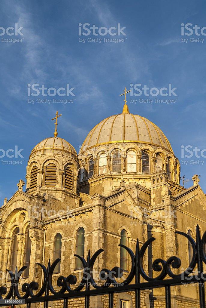 Biarritz: Russian Orthodox Church royalty-free stock photo