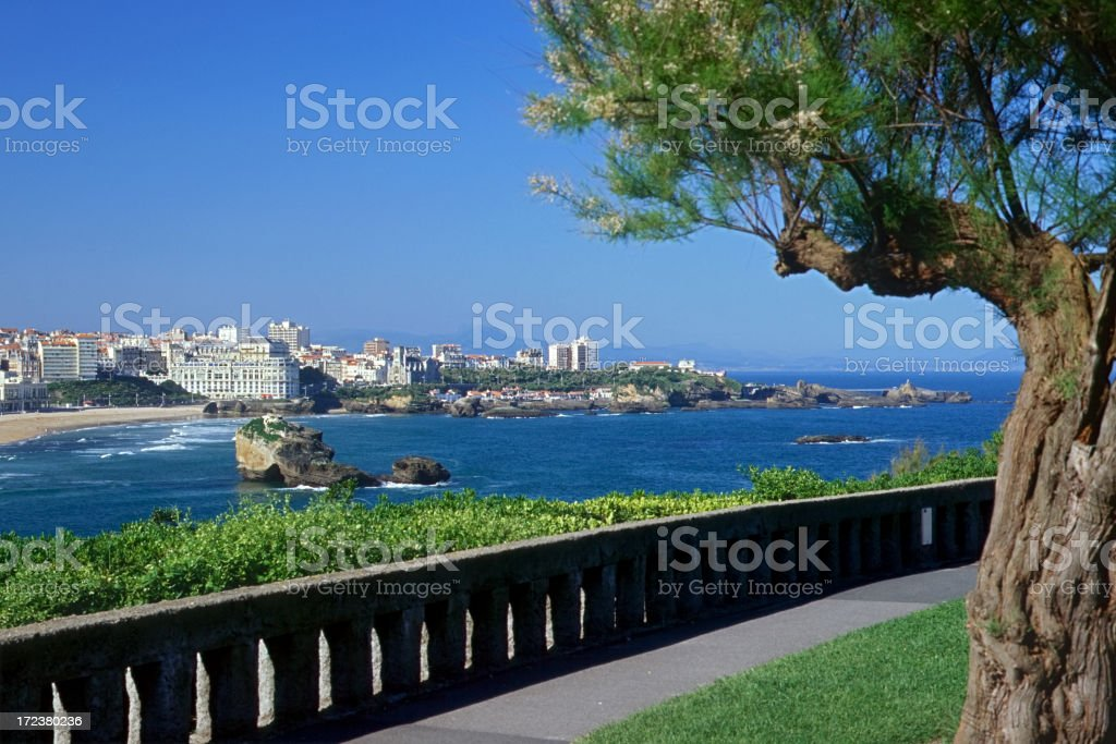 Biarritz - Seaside stock photo