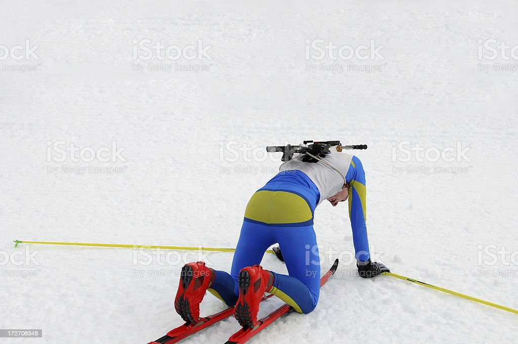 Biathlon competition royalty-free stock photo