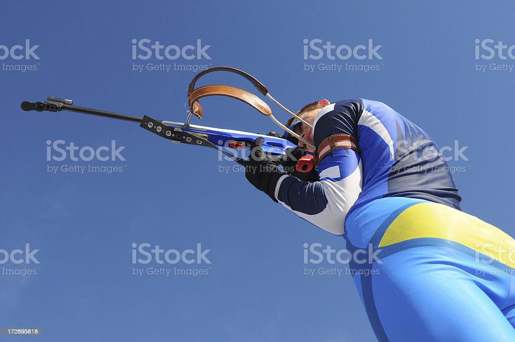 Biathlon competitor royalty-free stock photo