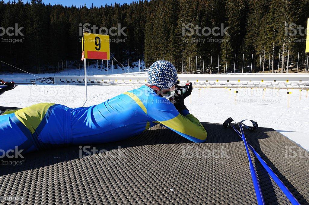 Biathlon royalty-free stock photo