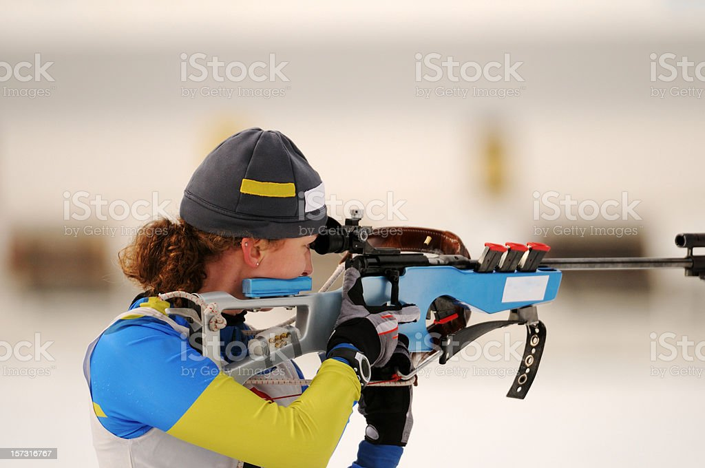 Biathlon world cup competition stock photo