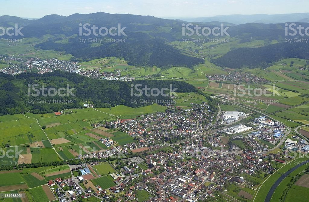 Biberach aerial stock photo