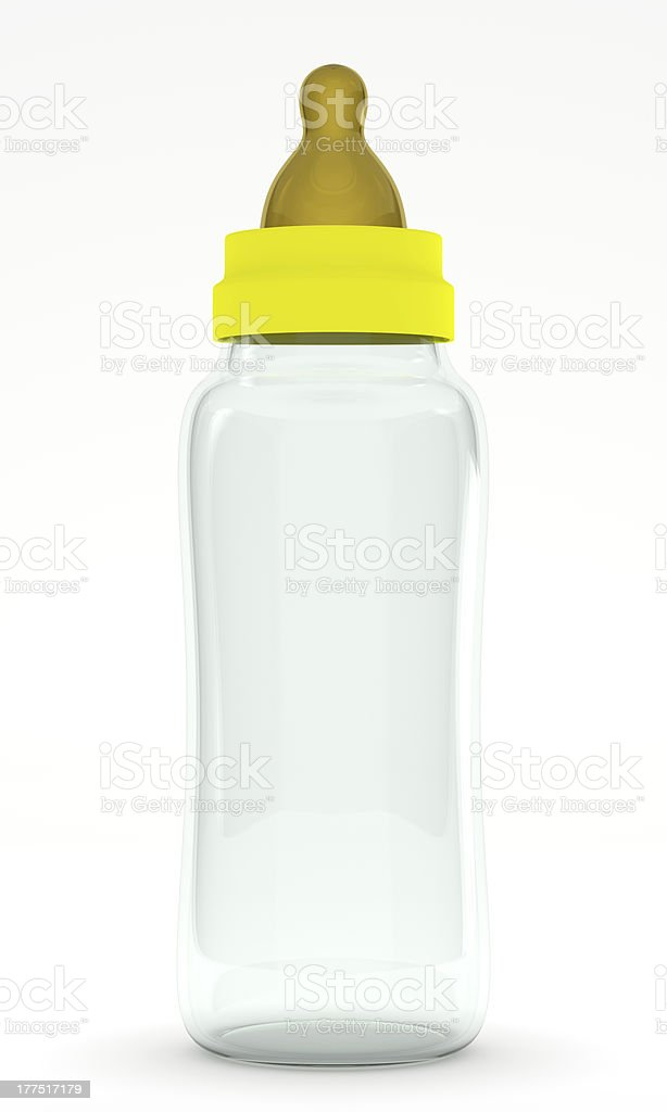 Biberon (Baby Bottle) isolated on white background royalty-free stock photo
