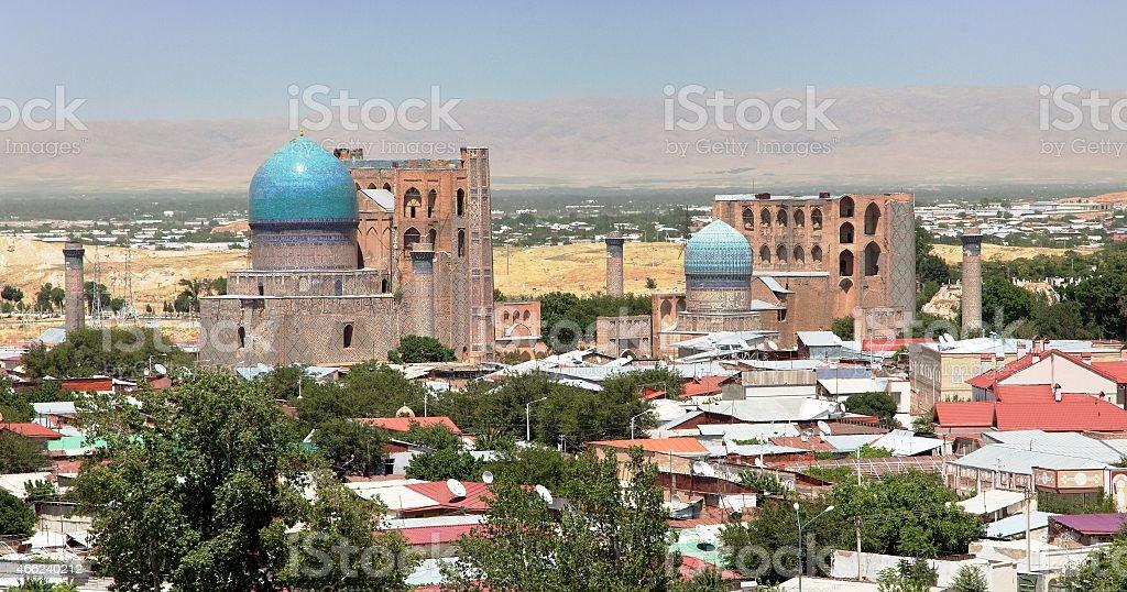 Bibi-Khanym mosque - Samarkand - Uzbekistan stock photo