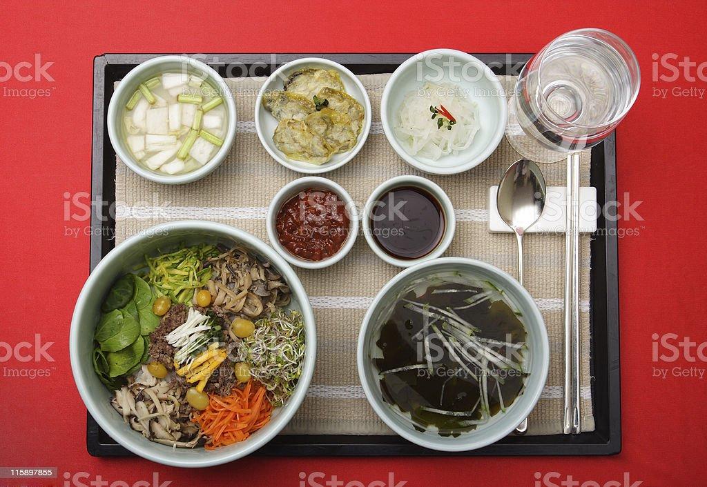 Bibim Bab with seaweed soup royalty-free stock photo