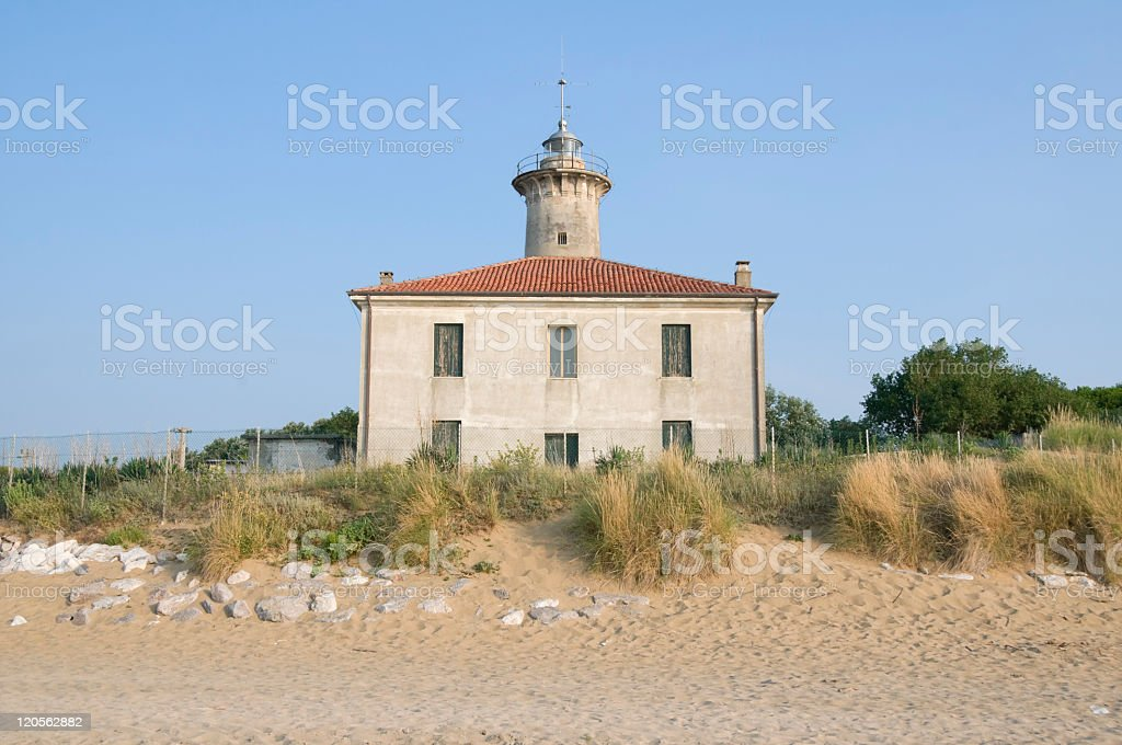 Bibione lighthouse royalty-free stock photo
