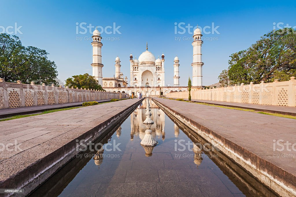 Bibi-qa-Maqbara in Aurangabad stock photo