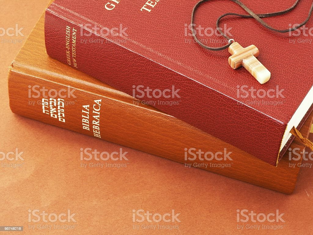 Bible and a cross royalty-free stock photo