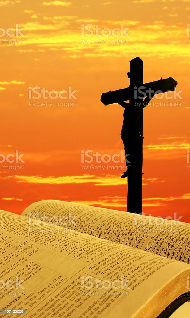 Bible and Cross royalty-free stock photo