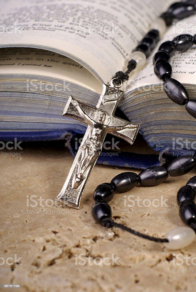 Bible And Crucifix stock photo