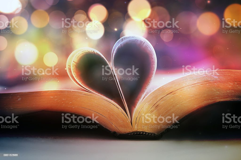 Bible and heart stock photo