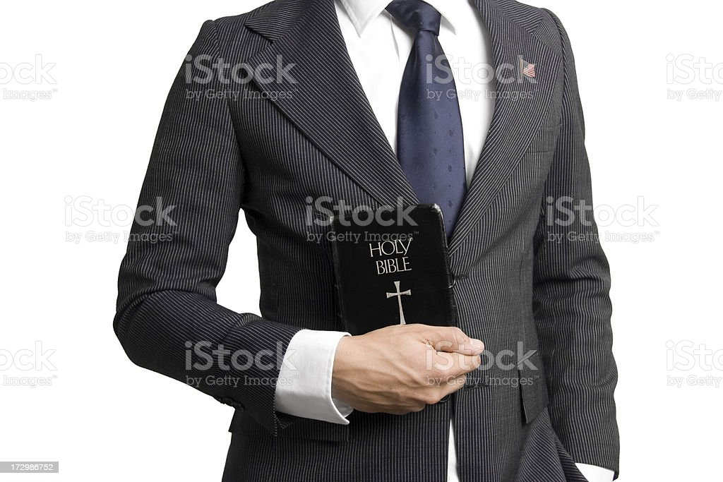 Bible and politics royalty-free stock photo