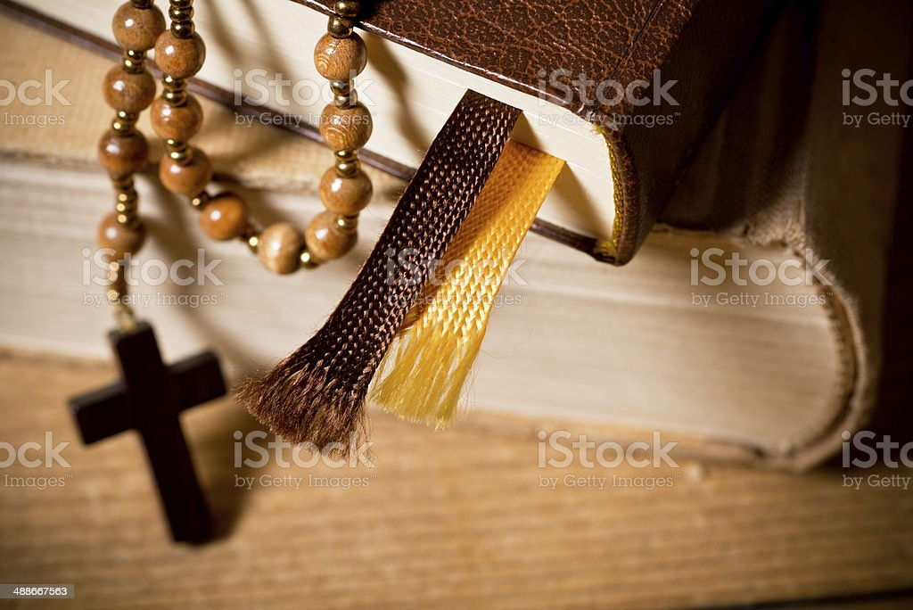 Bible And Rosary royalty-free stock photo