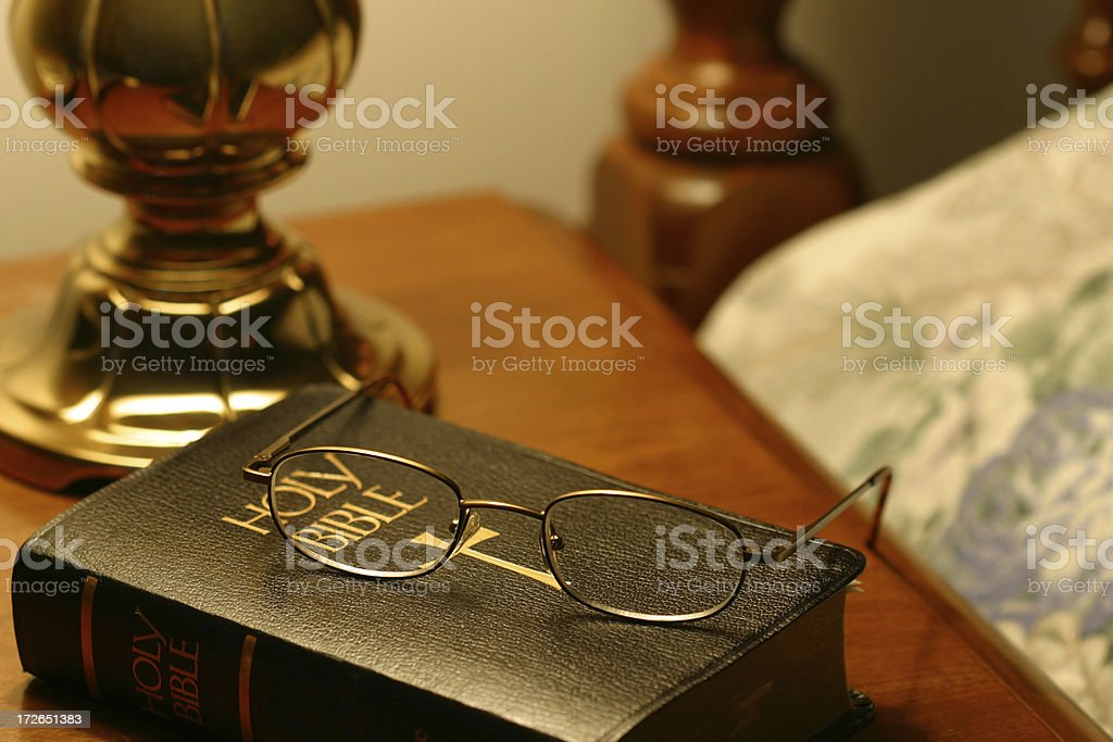 Bible at Bedside royalty-free stock photo