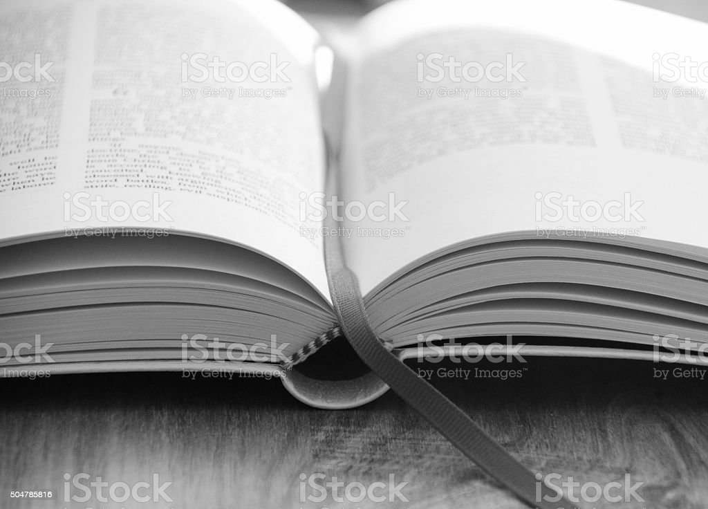 Bible Black and White stock photo