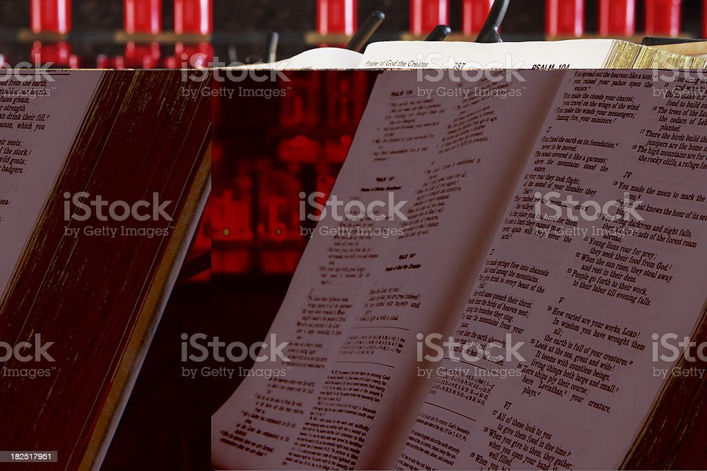 Bible Book Pages Prayer Candle royalty-free stock photo