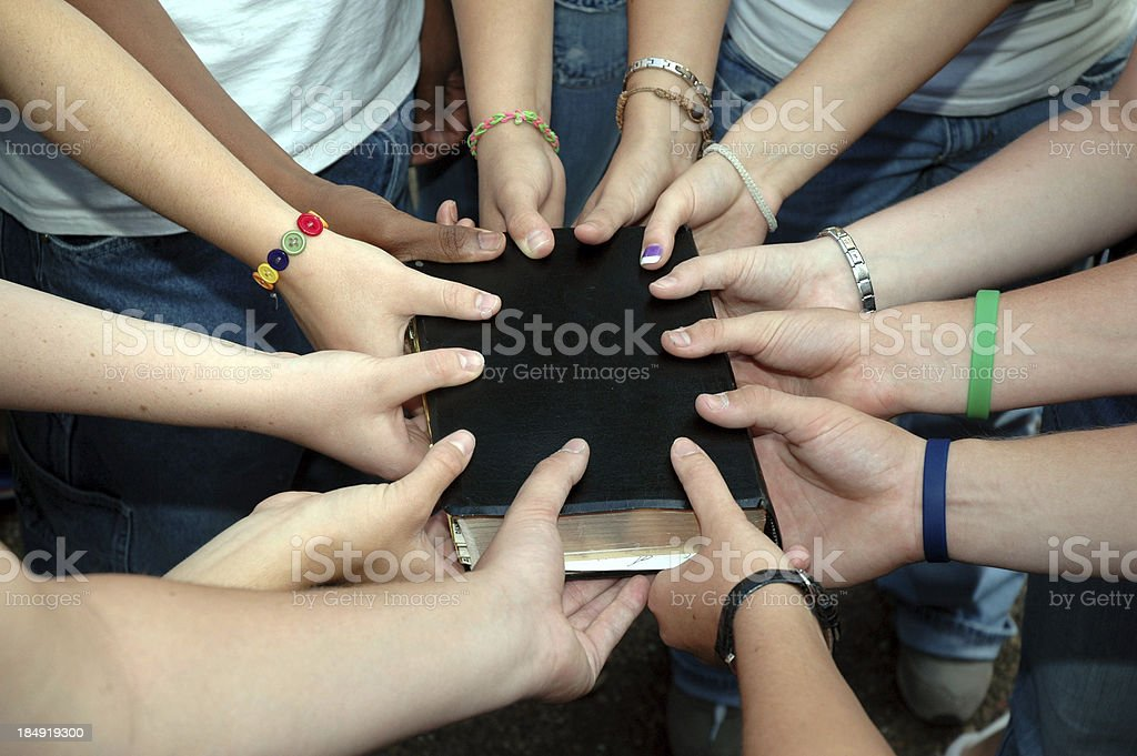 Bible - Christian Youth Group royalty-free stock photo