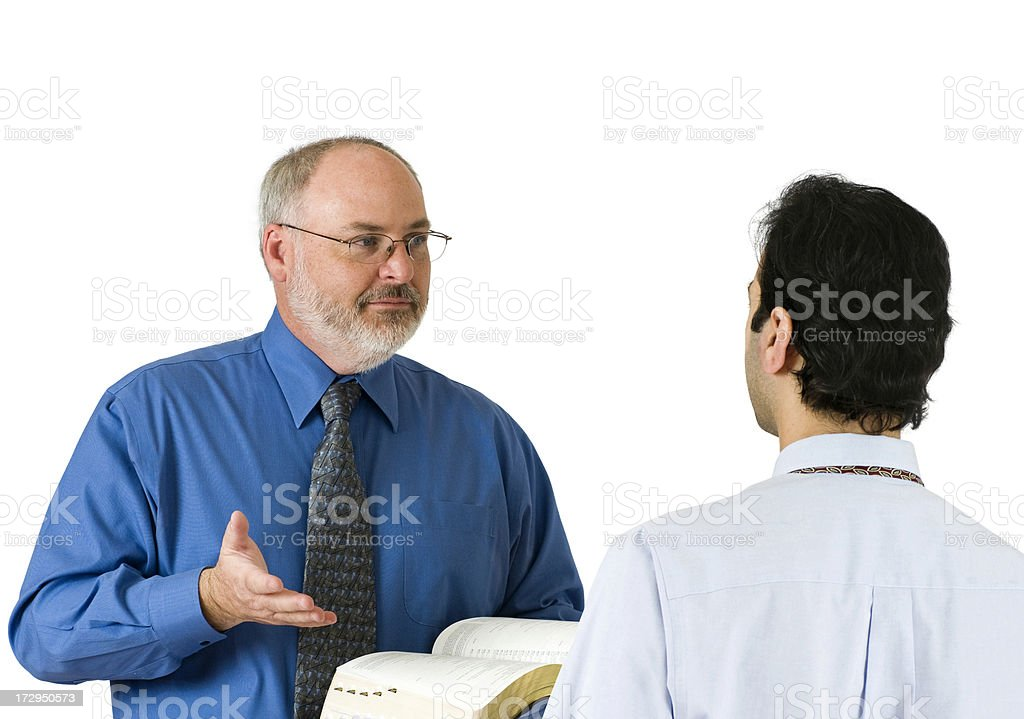 Bible Discussion royalty-free stock photo