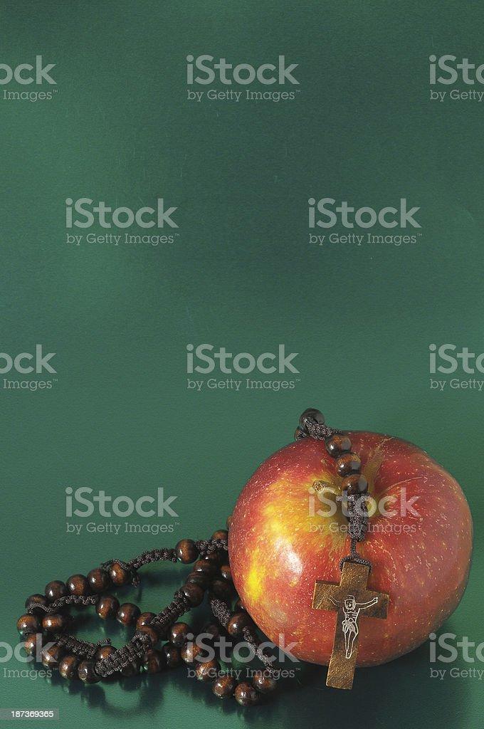 Bible Eva's Sin Red Apple royalty-free stock photo