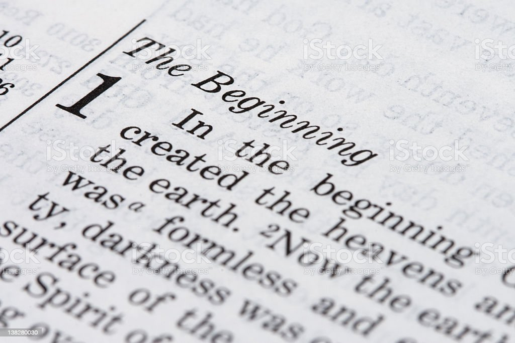 Bible Extracts: Genesis 1 royalty-free stock photo