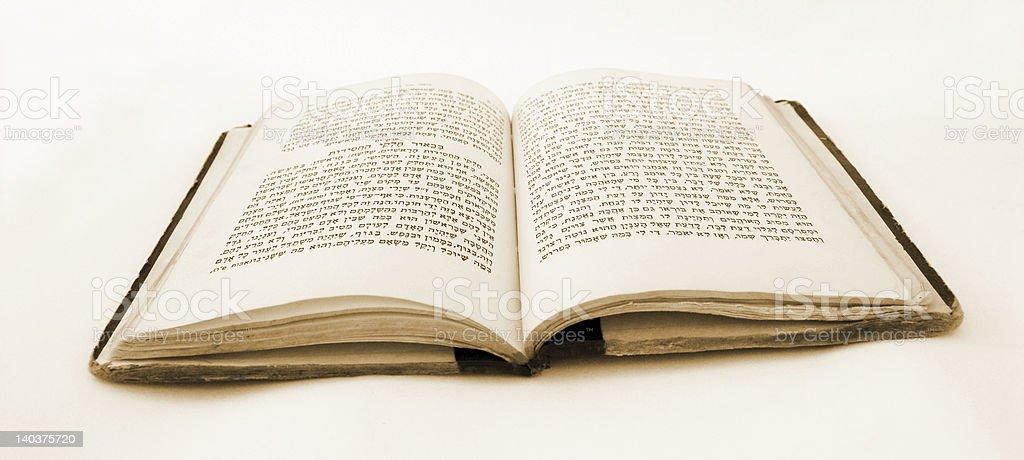 Bible in Hebrew stock photo