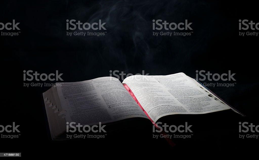 Bible in the Smoke royalty-free stock photo