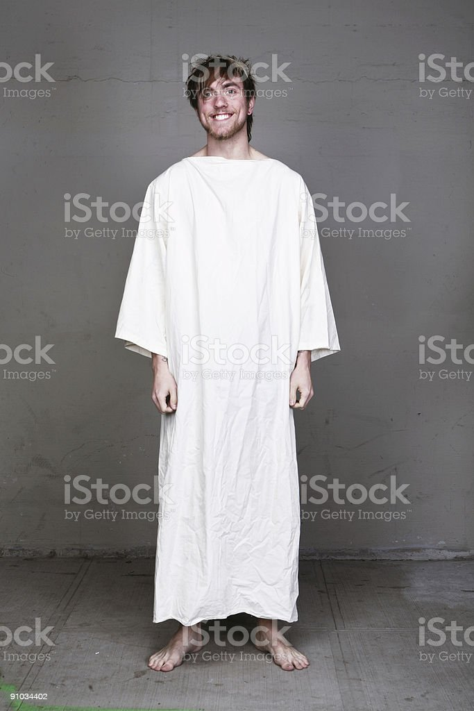 Bible Man Character Wearing Robe Portrait stock photo