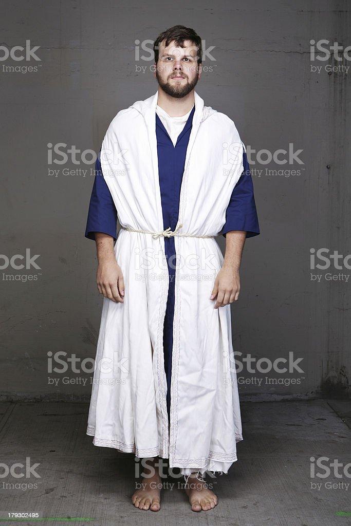 Bible Man Standing in Robe stock photo