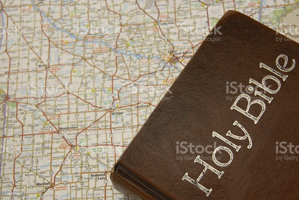 Bible On A Roadmap Series royalty-free stock photo