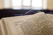 Bible on Lectern in Medieval English Church