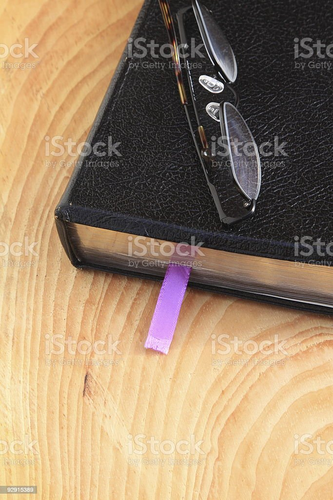 Bible on wood royalty-free stock photo