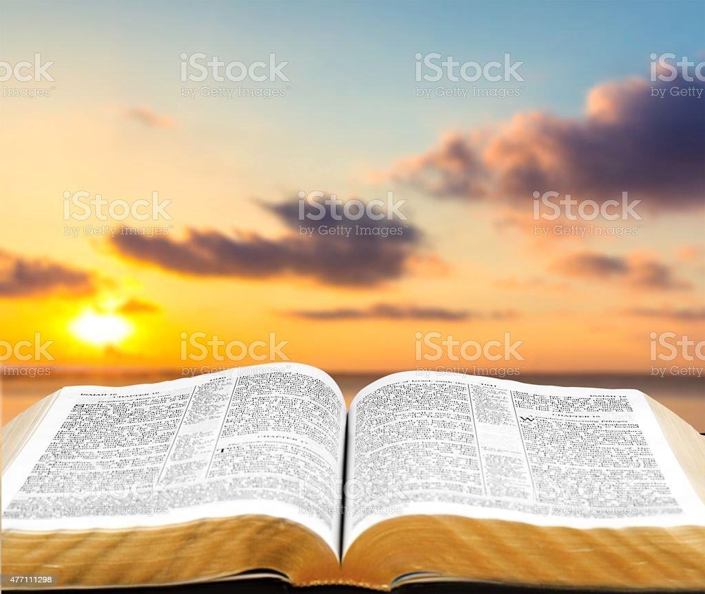 Bible, Open, Gospel stock photo