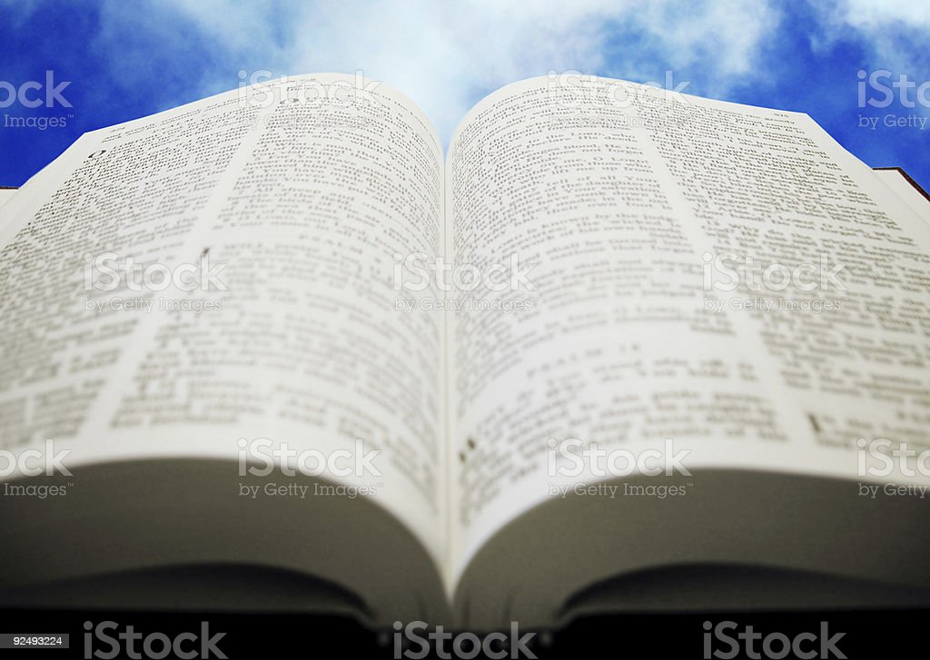 Bible open to heaven royalty-free stock photo