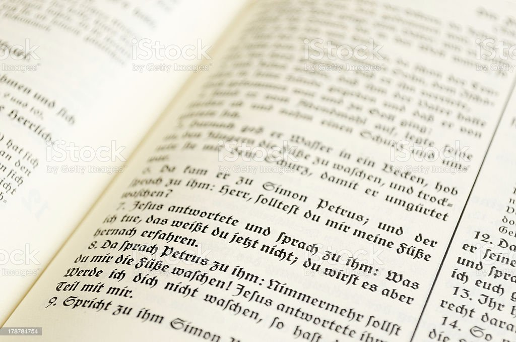 Bible Page stock photo